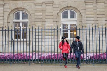 A sede do Senado tem um dos canteiros de flores mais charmosos de Paris