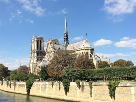 Uma das vistas mais belas da Notre-Dame de Paris