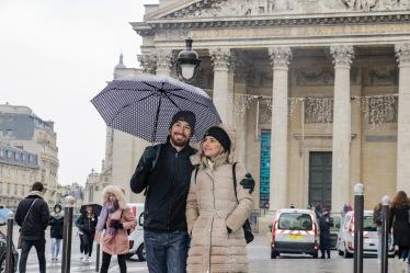 Jéssica e Márcio aproveitaram o máximo desse primeiro dia de Paris